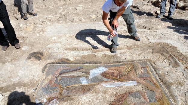 Yağmur yağdı, Roma dönemine ait mozaikler gün yüzüne çıktı