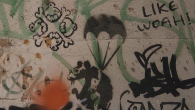 Banksy'nin 'üç faresi' inşaat kurbanı