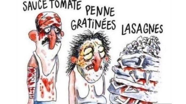 Charlie Hebdo'ya 'lazanya' davası