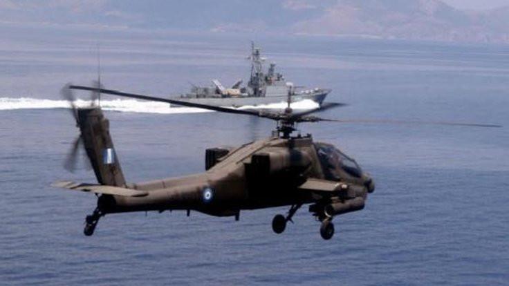 Ege'de helikopter düştü