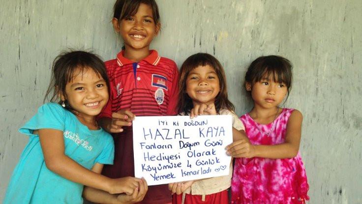 Hazal Kaya'ya Kamboçya hediyesi