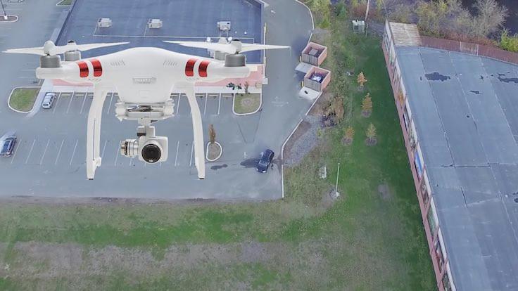 Aldatan karısını drone'la yakaladı!