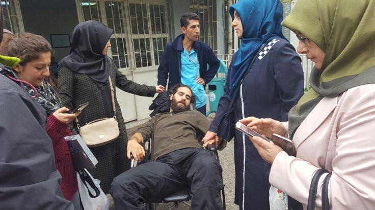 Hüda Kaya'nın oğlu hastanede, polis kapıda