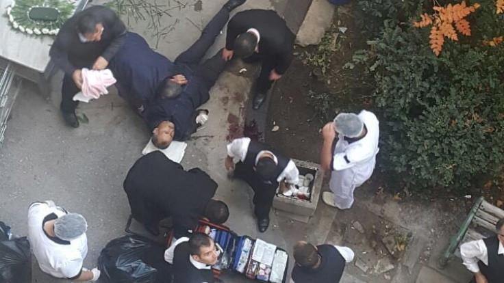 Meclis'te iş kazası: Kafasına mermer düştü