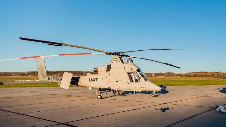 Yangın söndüren pilotsuz helikopter