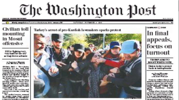 HDP Washington Post'un manşetinde