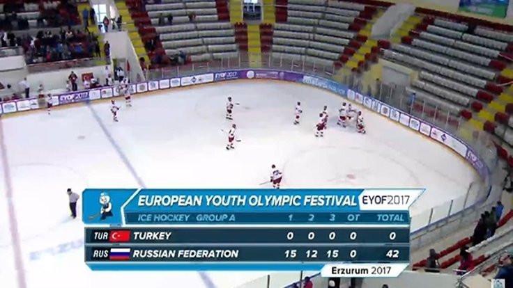 Buz hokeyinde Rus çığı: 42-0