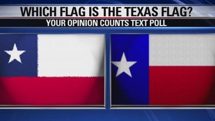 Teksaslılara uyarı: O Şili bayrağı!