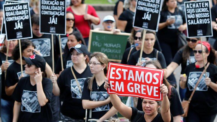 Brezilya'da 'yeni' emeklilik yaşı protesto edildi