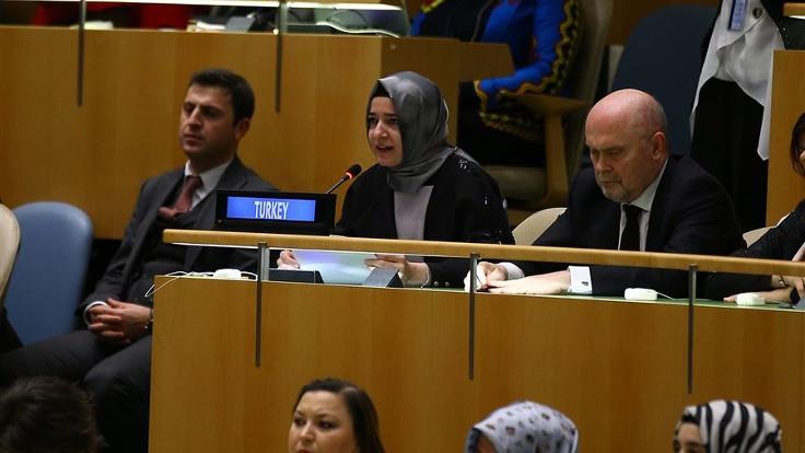 Bakan Kaya BM'de konuşma yaptı
