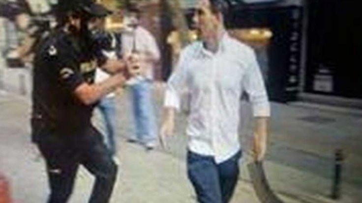 Gezi'nin palalısı iş adamını tehditten tutuklandı