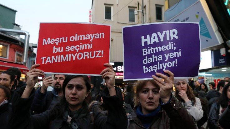 İstanbul'da YSK protestoları