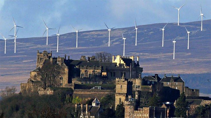 İskoçya enerjisini rüzgardan alıyor
