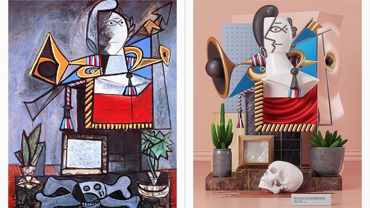 Picasso artık üç boyutlu!