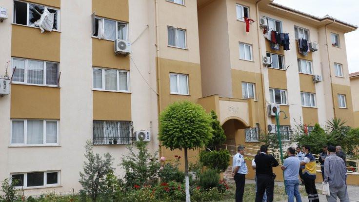 Antalya'da TOKİ konutunda patlama
