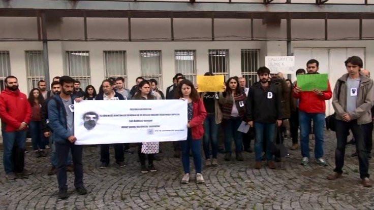 İTÜ'de işçi ölümleri protesto edildi