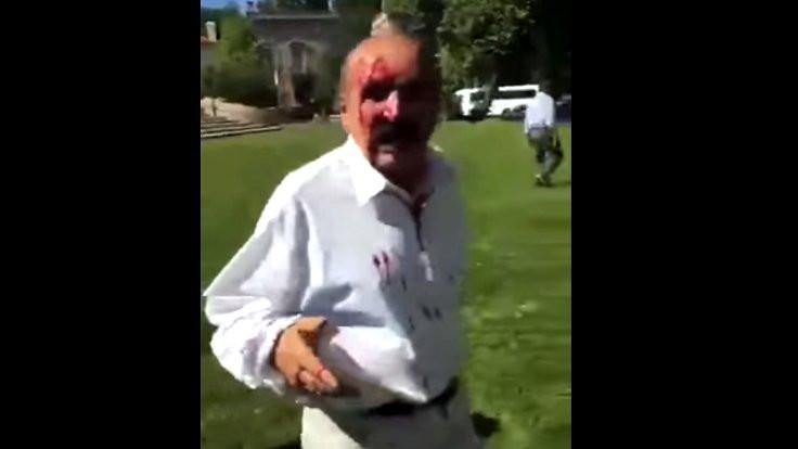 ABD'de elçilik önünde Erdoğan kavgası