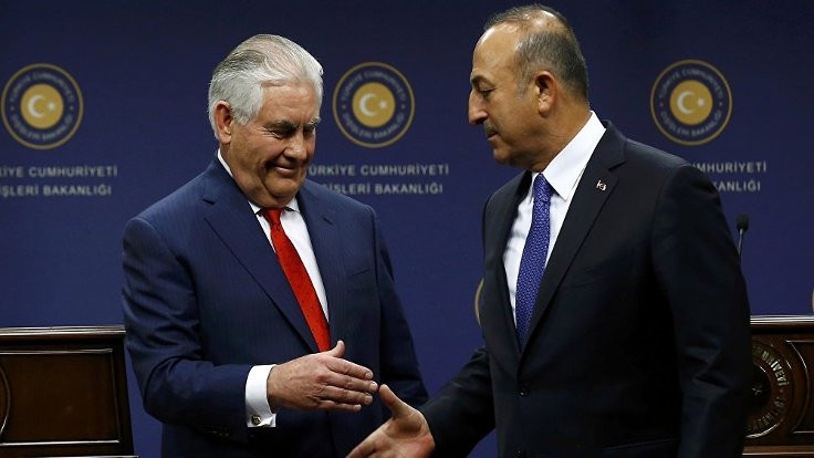 Mevlüt Çavuşoğlu, Rex Tillerson ile görüştü