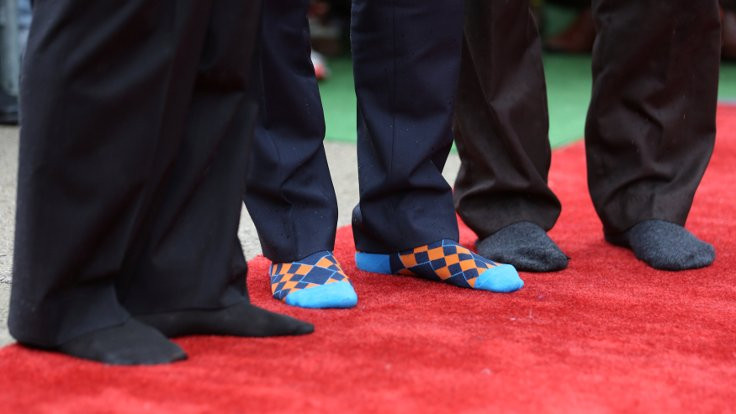 Bayrama başbakanın çorapları damga vurdu!