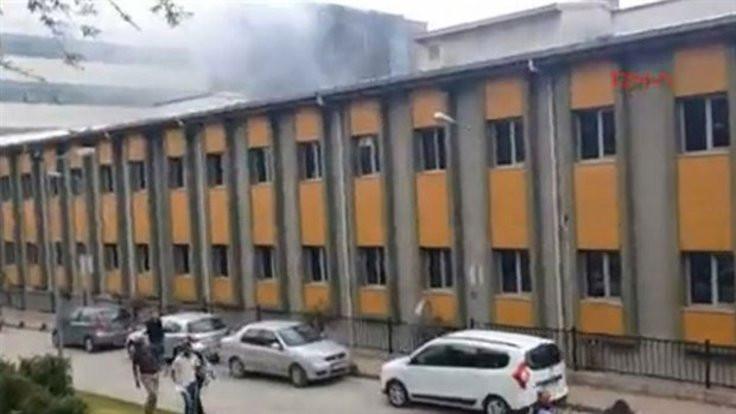 Halkalı'da hastane yangını