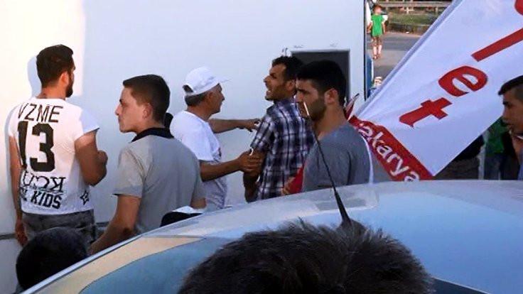 CHP'nin kamp alanında arbede