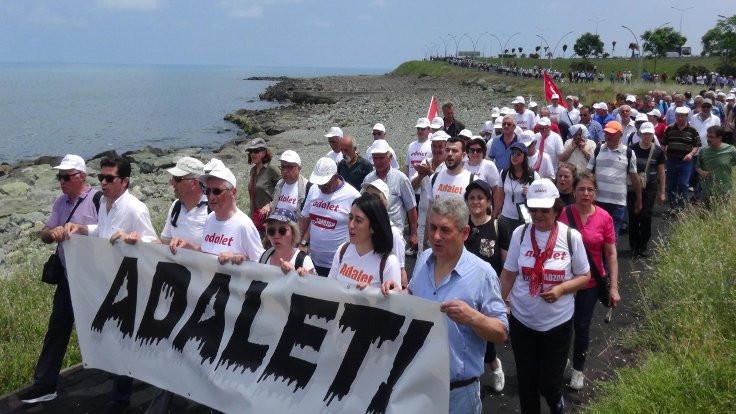 Karadenizli CHP'liler yürüyüşe geçti