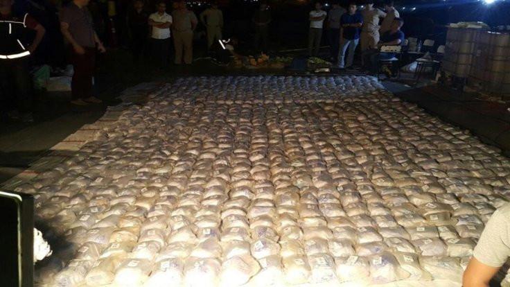 Mersin'de 1071 kilo eroin ele geçirildi