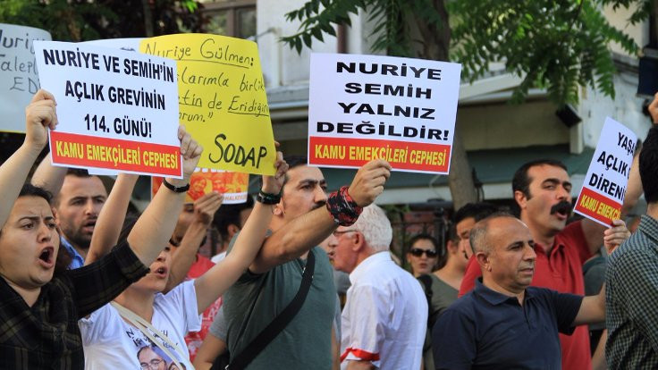 Gülmen ve Özakça'ya destek yürüyüşüne izin verilmedi