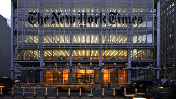 New York Times'ta eylem
