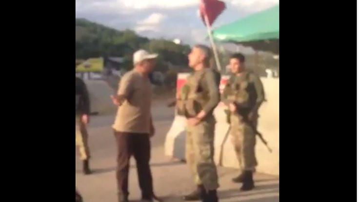 HDP'li Önlü ile astsubay arasında tartışma