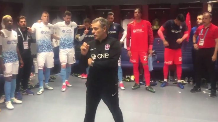 Bursa maçında Trabzonspor soyunma odası