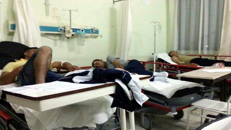 Askerler hastanelik oldu
