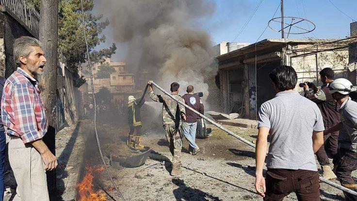 Azez'de, otogara bombalı saldırı