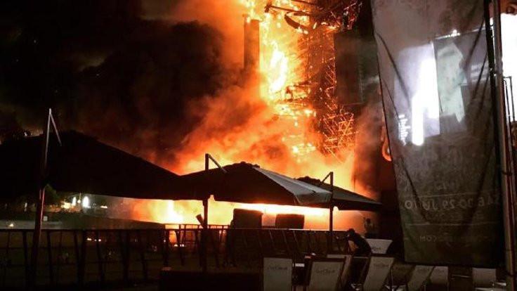 Festivalde yangın tahliyesi
