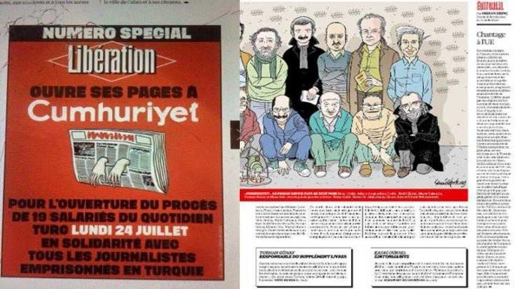 Libération'da 6 tam sayfa Cumhuriyet