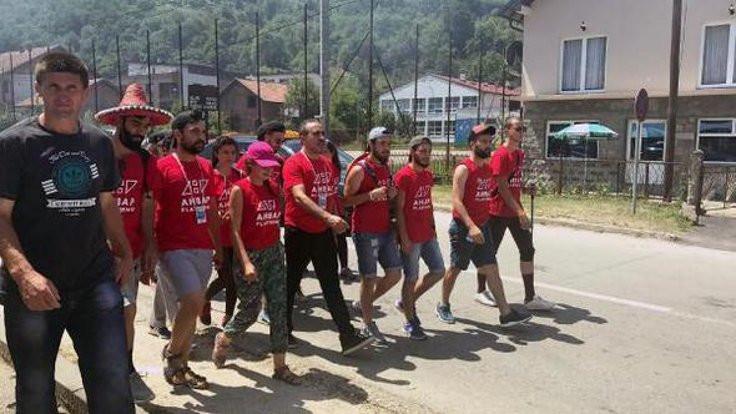 Srebrenitsa için yürüdü...