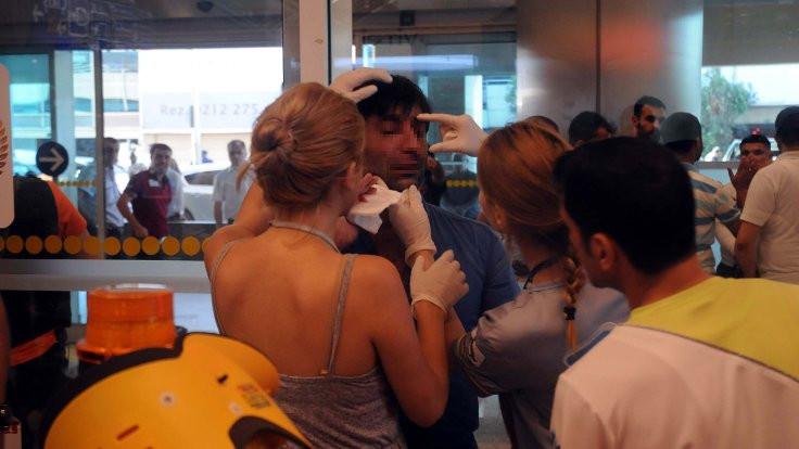 Atatürk Havalimanı'nda arama kavgası