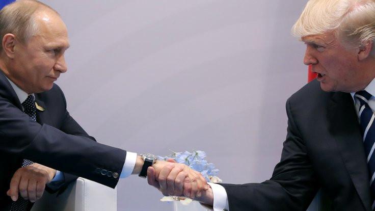 Putin-Trump görüşmesinden kareler...