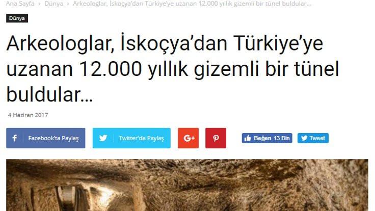 İskoçya'dan Türkiye'ye tünel yok!