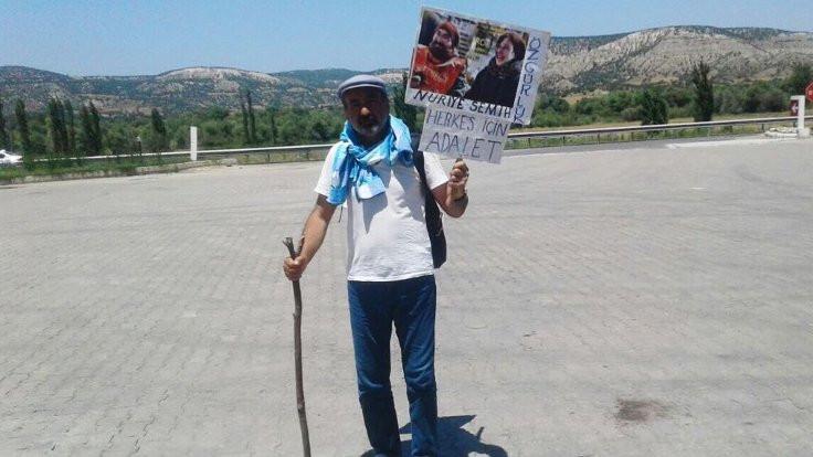 İzmir'den Ankara'ya yürüyen Adem Kızılçay gözaltına alındı
