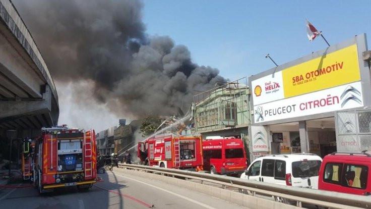 Samsun'da sanayi sitesinde yangın