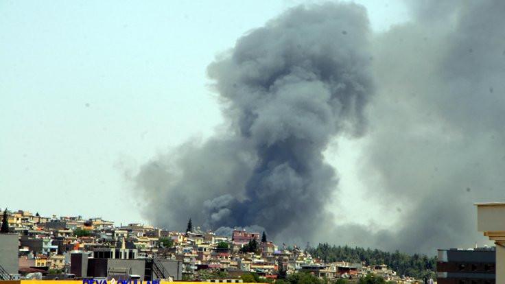 Gaziantep'i dumanla kaplayan yangın
