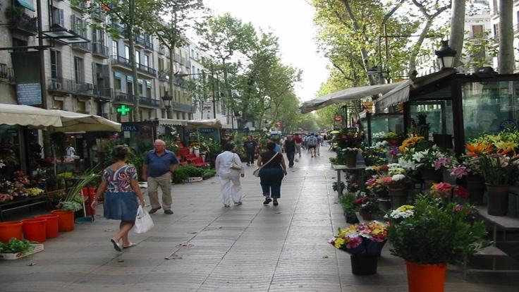 Zafer yolu: La Rambla caddesi