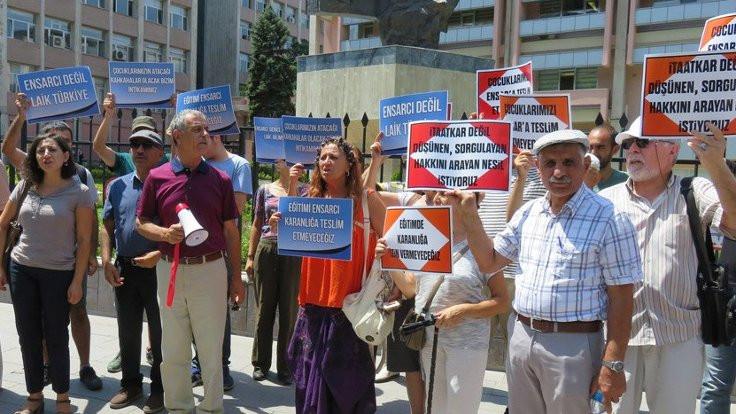 MEB önünde 'Ensar' eylemi