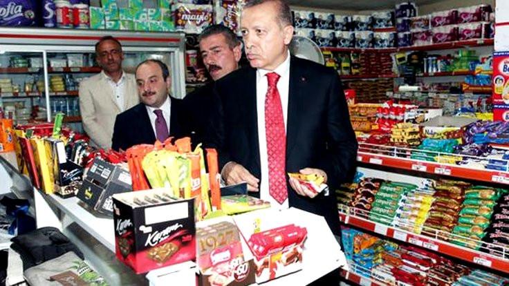 Erdoğan bakkaldan alışveriş yaptı