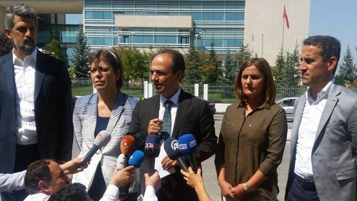 Görüşme bitti, HDP'liler nöbete devam edecek