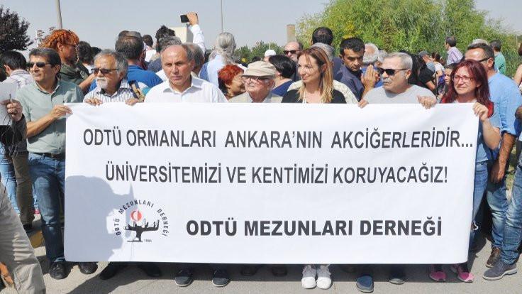 ODTÜ'de yol protestosu: Bu bir rant projesi