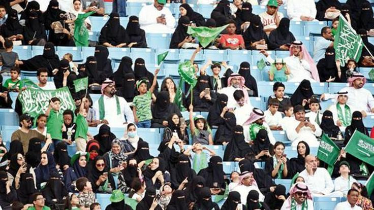 Suudi kadınlar ilk kez statta!