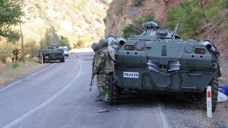 Tunceli'de hava harekatı ve çatışma