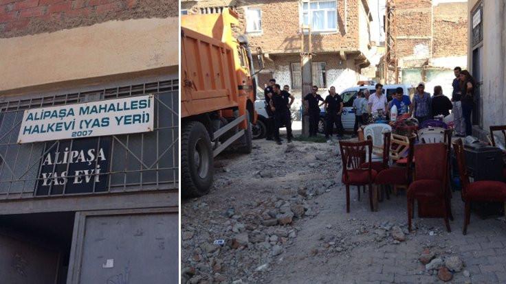 Sur'daki yas evi için yıkım kararı